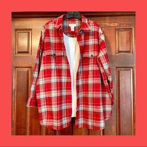 Jones New York Flannel Plaid Shirt